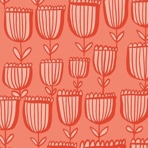 Sweet Tulips - Coral
