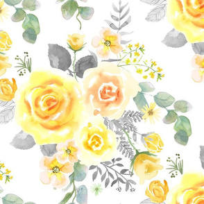 LG-Yellow, Blush Rose, Eucalyptus on White