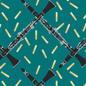 Clarinets and Reeds on Teal
