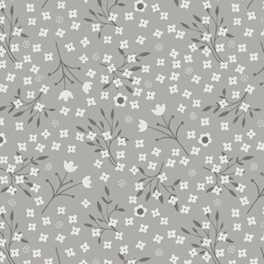Tiny Flowers silver