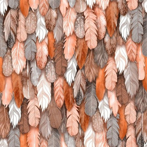 Sienna Feathers Small Scale