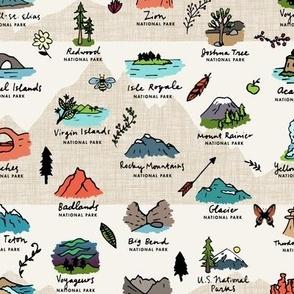 National Parks Mountain Landscape