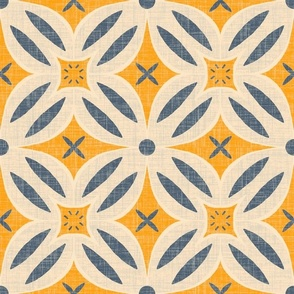 Mod flowers - pale yellow and goldenrod
