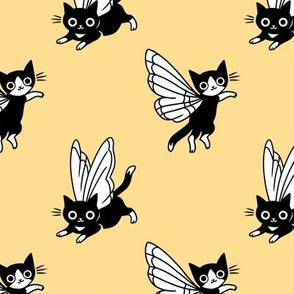 Fairy cats. Kittens with butterfly wings