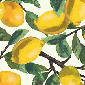 Painted Lemon Branches