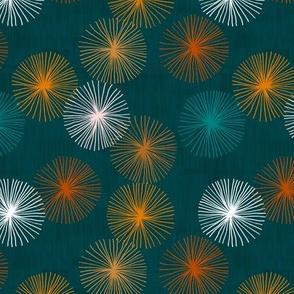 Small Dandelions M+M Confetti Peacock by Friztin