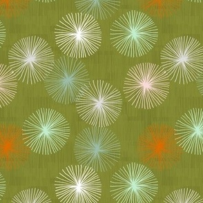 Small Dandelions M+M Confetti Grass by Friztin