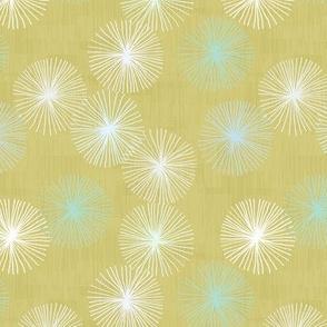 Small Dandelions M+M Confetti Olive by Friztin