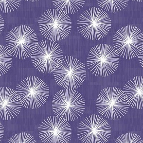 Small Dandelions M+M Royal Purple by Friztin