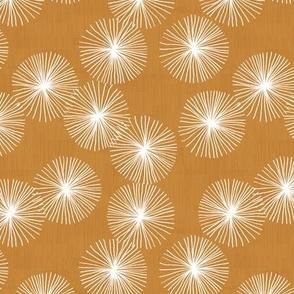 Small Dandelions M+M Caramel by Friztin
