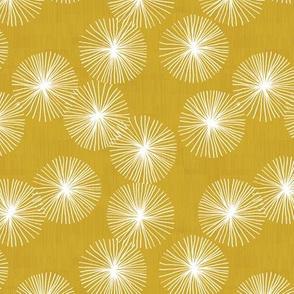 Small Dandelions M+M Ocher by Friztin