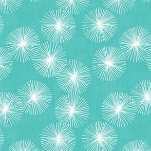 Small Dandelions M+M Aqua by Friztin