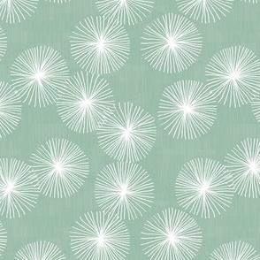 Small Dandelions M+M Eucalyptus by Friztin