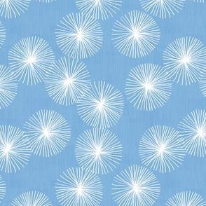 Small Dandelions M+M Sky by Friztin