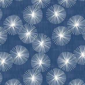 Small Dandelions M+M Navy Blue by Friztin