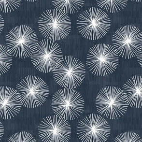 Small Dandelions M+M Navy Black by Friztin