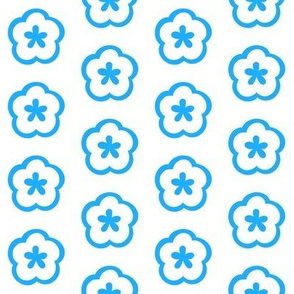 Blue Motif Half Drop