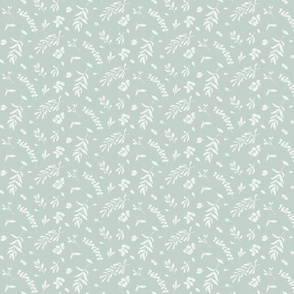Eucalyptus leaves small teal green neutral watercolor