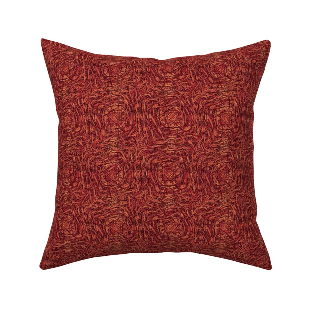 Catalan Throw Pillow featuring Coral Zebra Play by wren_leyland