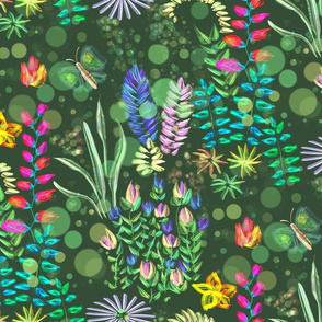Vivid Mysterious Jungle