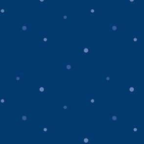 Midsummer Night - tiny dots - blue
