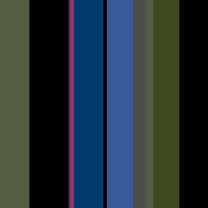 Midsummer Night - dark stripes - standard