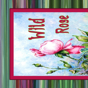 Wild Red Rose Floral Tea Towel