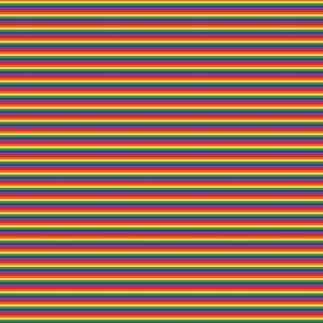 Tiny rainbow stripes