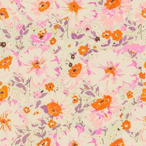 faded floral - pink & coral
