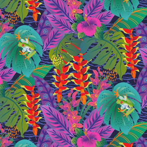 Tropical Surrealism-Heliconia Snakes