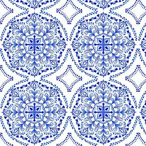 Royal Blue Watercolor Mandala