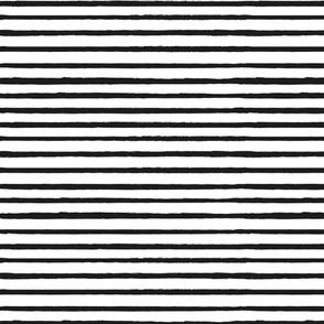 Skinny Torn Stripe Black