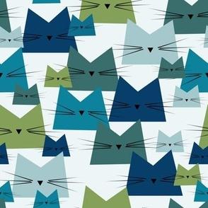 cats - nala cat ocean - geometric cats