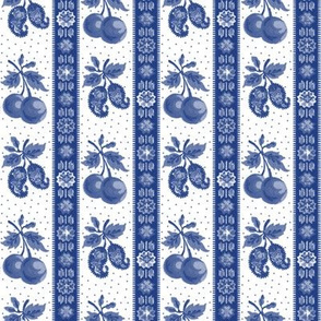 Serena Stripe ~ Willow Ware Blue and White