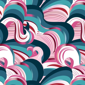 Candy Cane Waves - large scale