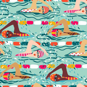 freestyle swimming ladies // mint