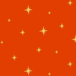 Mid Century Stars Red