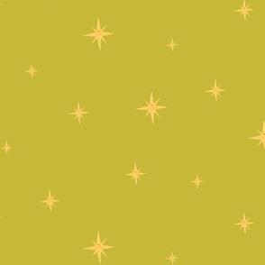 Mid Century Stars Green