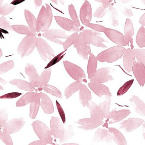 Blush pink Tender meadow - watercolor pastel florals - painted soft wildflowers for home decor bedding nursery - flower pattern 322