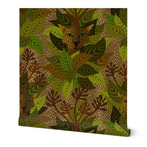Surreal tropical leopard cammo