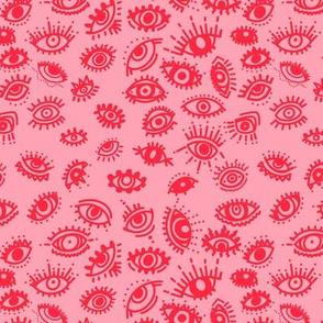 Red Pink Evil Eye