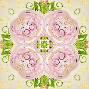 Peony Lattice Medallions No. 7