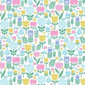 pastel folk floral