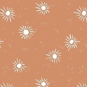 Love seventies retro style sunshine sun soft pastel nursery rust orange