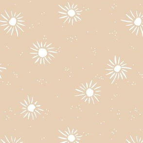 Love seventies retro style sunshine sun soft pastel nursery sand creme