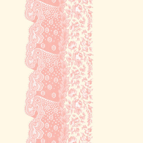 Matilda Lace ~ Border Print _ Pierina on Cosmic Latte _ Copyright Peacoquette 2020