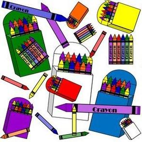 Crayons Fabric Designs