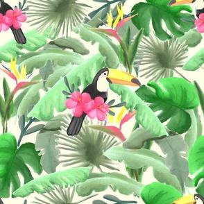 Tropical surrealism- cream