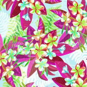 Hot Tropics floral