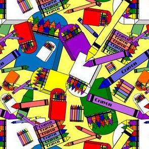 Crayons Fabric Design
